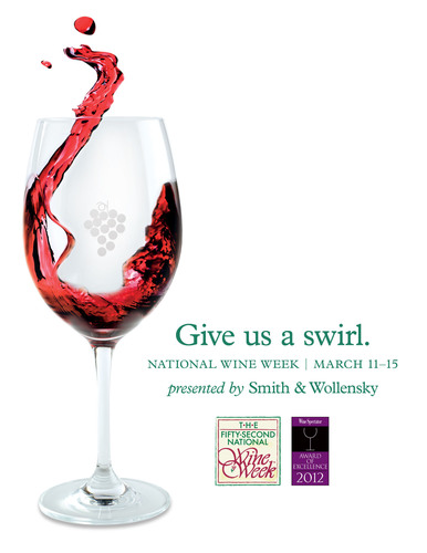 Smith & Wollensky Restaurant Group celebrates 52nd National Wine Week March 11-15. Catch an early flight and sample 4 preview wines beginning Feb. 18. For more information visit www.smithandwollensky.com. (PRNewsFoto/Smith & Wollensky Restaurant Group) (PRNewsFoto/SMITH & WOLLENSKY RESTAURANT)