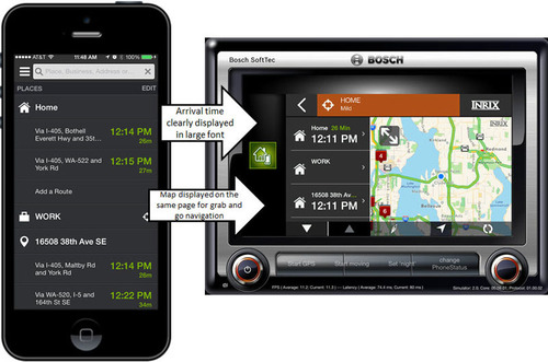 INRIX XD Connect offers developers a set of technologies for making smartphone apps context aware to provide a driver friendly experience when used in the car. (PRNewsFoto/INRIX) (PRNewsFoto/INRIX)