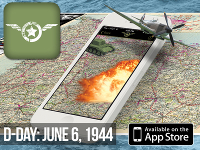 """The TGGF """"D-Day: June 6, 1944"""" Augmented Reality app is available for free download on iPhone via Apple's App store. The app was developed by Washington-based custom software and augmented reality firm, Gravity Jack. (PRNewsFoto/Gravity Jack, Inc.)"""