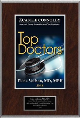 Dr. Elena Volfson, MD, MPH is recognized among Castle Connolly's Top Doctors(R) for Haverford, PA region in 2013.