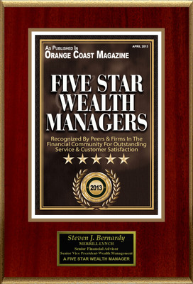"Steven Bernardy Selected For ""Five Star Wealth Managers"".  (PRNewsFoto/American Registry)"