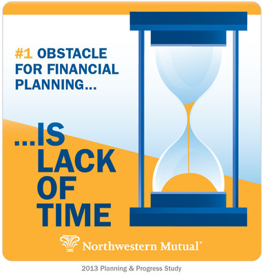 Lack of Time No. 1 Obstacle for Financial Planning.  (PRNewsFoto/Northwestern Mutual)