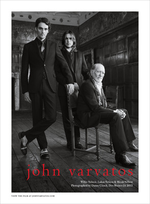 John Varvatos FW13 Campaign Featuring Willie Nelson and Sons