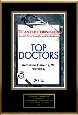 Dr. Katherine Timmins, Renal Specialists of Houston is recognized among Castle Connolly's Top Doctors(R) for Houston, TX region in 2014. (PRNewsFoto/American Registry)