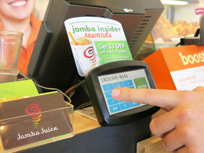 Jamba Juice unveiled its new Jamba Insider Rewards program that allows consumers to conveniently earn rewards, personalized offers, and free products without the need to carry a rewards card. The program enables custom rewards based on an individual's previous purchase behavior, making the program not only convenient, but also tailored to their buying habits and favored menu items. Consumers can easily activate their Jamba Insider Rewards account by registering online at jamba.com/rewards. For more information, please visit www.jambajuice.com/rewards.  (PRNewsFoto/Jamba Juice Company)