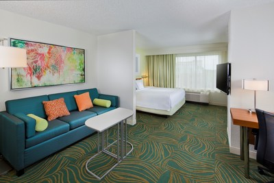 The SpringHill Suites Orlando Lake Buena Vista has just finished a complete renovation of its 400 guest rooms. Suites with 25 percent more space than the average area hotel room now feature fresh furnishings. After an action-packed day at Walt Disney World, guests will enjoy restful nights on comfortable beds with thick mattresses, cotton-rich linens and fluffy new pillows. Suites also offer ergonomic work spaces, complimentary wireless Internet and flat-panel TVs. For information, visit www.marriott.com/MCOLX or call 1-407-938-9001.