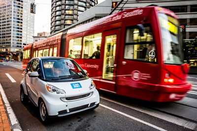 """""""We are very pleased with how quickly the community has embraced car2go and integrated our carsharing service into the City's diverse mix of transportation options,"""" said Nicholas Cole, president and CEO of car2go North America.  (PRNewsFoto/car2go North America, LLC)"""