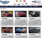 Broadway Automotive offers a unique online presence.  (PRNewsFoto/Broadway Automotive)