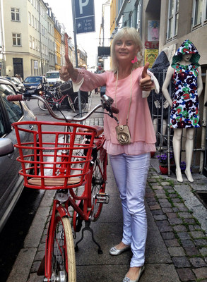 Blogger Anne-Grete Belmadani in Copenhagen's Latin Quarter (PRNewsFoto/Anne-Grete Belmadani)