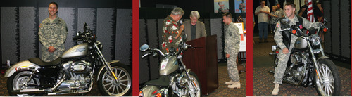Second Soldier Receives Motorcycle From Myrtle Beach's Sands Resorts and American Veterans