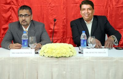 (L to R) Sarang Panchal, CEO MRSS India and Mukund Tripathi, Founder CEO Emtee Research