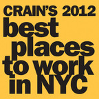 "Crain's New York Business Names Peppercomm ""Best Place to Work in New York City.""  (PRNewsFoto/Peppercomm)"