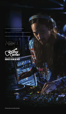 "GUITAR CENTER CONFIRMS DJ AND PRODUCER STEVE AOKI TO BE NEXT ARTIST FEATURED IN ""GREATEST FEELING ON EARTH"" MARKETING CAMPAIGN. (PRNewsFoto/Guitar Center)"
