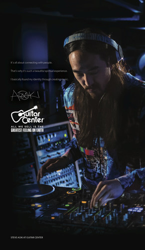 """GUITAR CENTER CONFIRMS DJ AND PRODUCER STEVE AOKI TO BE NEXT ARTIST FEATURED IN """"GREATEST FEELING ON ..."""