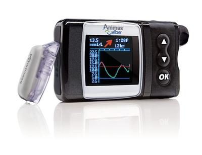 Animas(R) Vibe(TM) insulin pump and Dexcom G4(R) Sensor.  (PRNewsFoto/Animas Canada)