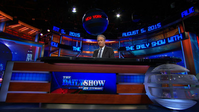 "The Newseum will acquire the set of ""The Daily Show with Jon Stewart"" following Stewart's final appearance as host of the late-night television program on Thursday, Aug. 6. Credit: ""The Daily Show with Jon Stewart"""