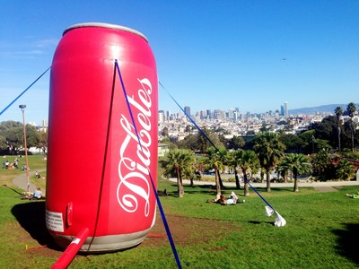 "The Bigger Picture's ""Diabetes"" Inflatable Soda Can."