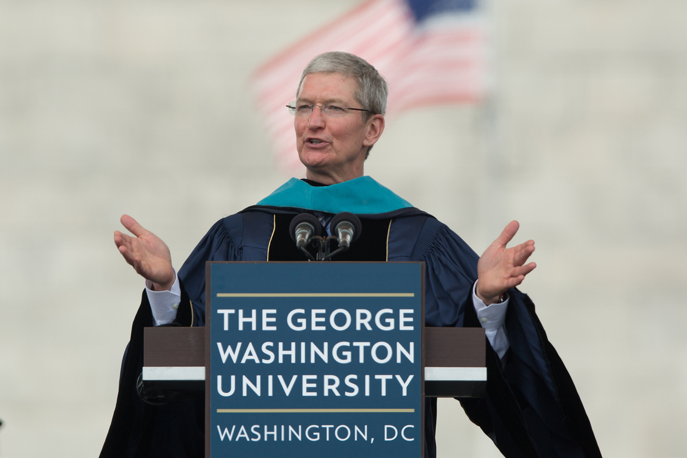 Apple CEO Tim Cook Urges GW Graduates to Find Their North Star