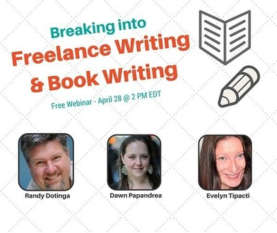 ProfNet is hosting a free webinar Tuesday, April 28, from 2 to 3 p.m. EDT, on how to break into freelancing and book writing. Registration: https://cc.readytalk.com/r/cntqpjtbbc1c&eom