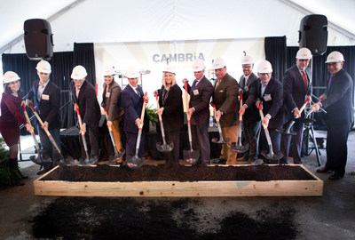 Groundbreaking ceremony of the Cambria hotel & suites Nashville. Rebecca Mervis; Mike Harrington; Butch ...