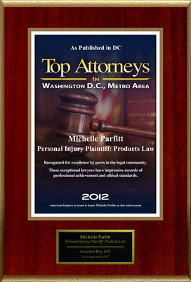 Attorney Michelle Parfitt Selected for List of Top Rated Lawyers in DC.  (PRNewsFoto/American Registry)