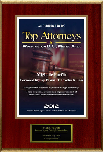Attorney Michelle Parfitt Selected for List of Top Rated Lawyers in DC.