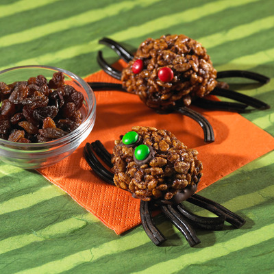 Frighteningly delicious, these Spooky Spiders feature California raisins, which are fat- and cholesterol-free; naturally low in sodium; and, packed with fiber and antioxidants.
