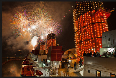 NYE Fireworks Aboard The Queen Mary.