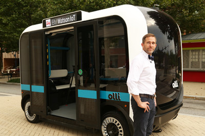 """Local Motors Debuts """"Olli,"""" the First Self-driving Vehicle to Tap the Power of IBM Watson"""