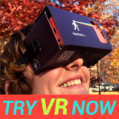 daydream.VR Viewer! The daydream.VR Viewer. Turn your smartphone into a VR Machine!A simple viewer anyone can build or buy. Once you have it, you can experience hundreds of VR apps.