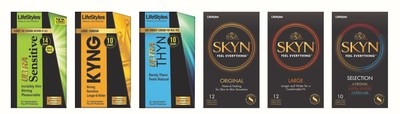 LifeStyles(R) Condoms Unveils New Products and Packaging