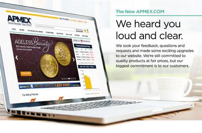 APMEX Launches Cutting Edge eCommerce Website (PRNewsFoto/APMEX, Inc.)