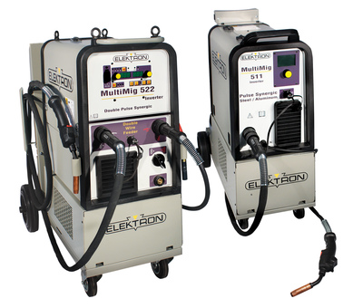 Elektron's new MultiMig 511 and MultiMig 522 MIG/MAG inverter welders are designed to help technicians weld aluminum as easily as they weld steel. Both welders are included in the Ford 2015 F-150 Collision Repair Program. (PRNewsFoto/Elektron)