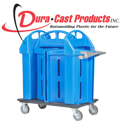 Dura-Cast's Dura Hanger Caddy is available in a wide selection of colors, with several capacity configurations ranging from 500 to 2,000 hangers. It is designed for housekeeping use in resorts and hotels.  (PRNewsFoto/Dura-Cast Products, Inc.)