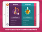 Flare Kids features parental controls that help create a safe digital playground for children