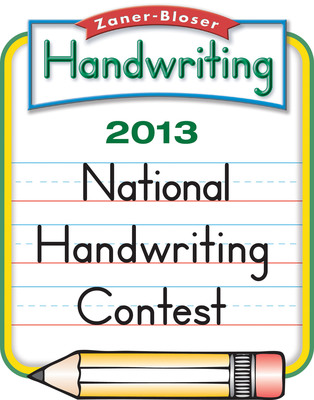 Zaner-Bloser Announces the National Winners and Grand National Champions in the 2013 National Handwriting Contest