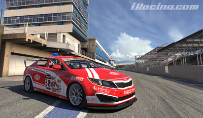 Kia Racing announces iRacing.com partnership at Circuit of the Americas debut.  (PRNewsFoto/Kia Motors America)