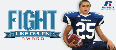 "Russell Brands, LLC, announced today it will begin accepting entries for the fourth annual Russell Athletic ""Fight Like Dylan Award,"" named in honor of Dylan Rebeor, a high school football player whose last wish was for his teammates to receive new uniforms.  Through this initiative, Russell Athletic will donate apparel and equipment via a $50,000 grant to one high school team that has demonstrated determination through sports, paying tribute to Dylan's remarkable character, courage and consideration of others. This year, submissions can be made at www.fightlikedylan.org. (PRNewsFoto/Russell Brands, LLC)"