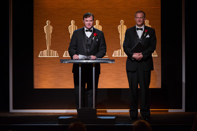 Reiner Doetzkies (left), and Steven Krycho (right) during the Academy of Motion Picture Arts and Sciences' Scientific and Technical Achievement Awards on February 7, 2015, in Beverly Hills, California.