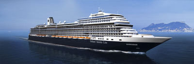 """Holland America Line will name its new 99,500-ton cruise ship ms Koningsdam. Slated for delivery in February 2016 from Italian shipbuilder Fincantieri's Marghera shipyard, the 2,650-passenger ship is the largest ever built for the premium line and will see an evolution in design for the line -- a new Pinnacle Class. The word koning means """"king"""" in Dutch. The increased size provides more opportunities to add new public spaces and venues, and several innovative features will debut on the ship.  (PRNewsFoto/Holland America Line)"""