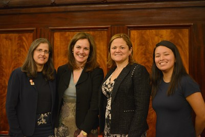 Council member Helen Rosenthal, Sharon Greenberger, president & CEO of YMCA of Greater New York, Council Speaker Melissa Mark-Viverito and Yoko Liriano, director of Teen Programs and the YMCA of Greater New York.