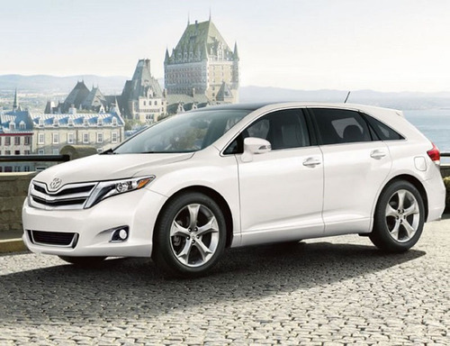 The 2014 Toyota Venza offers more cargo space than some compact crossover SUVs as well as very competitive numbers for fuel-economy and powertrain performance.  (PRNewsFoto/Toyota of Naperville)