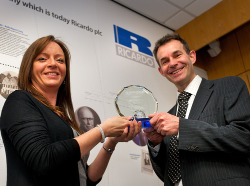 Ricardo Engineer Wins InterRegs Award For Clean-engine Technology