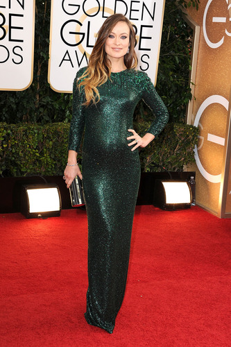 Olivia Wilde at the 71st Golden Globes in Forevermark Diamonds. (PRNewsFoto/Forevermark) ...