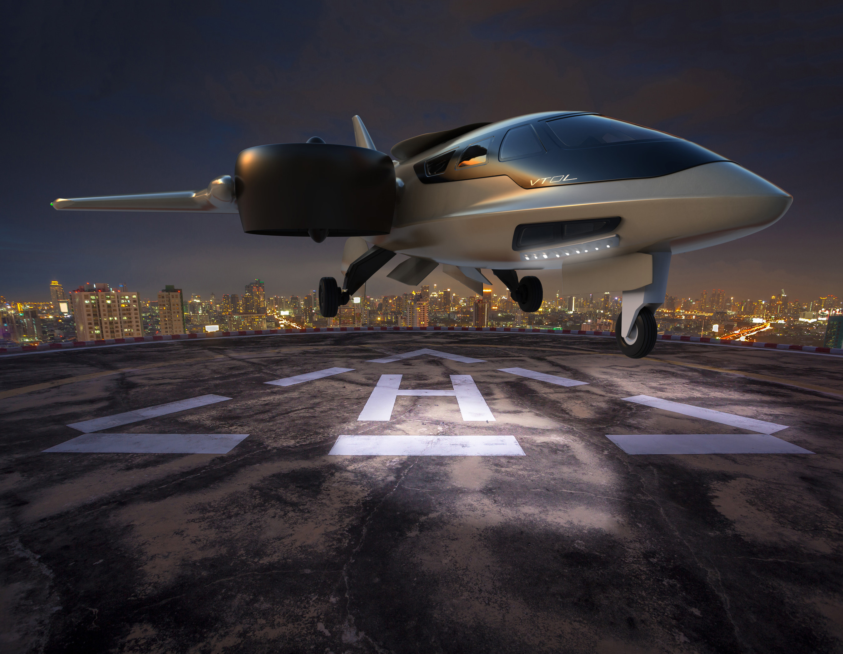 A sleek, futuristic design enhances the appeal of the TriFan 600 from XTI Aircraft Company.