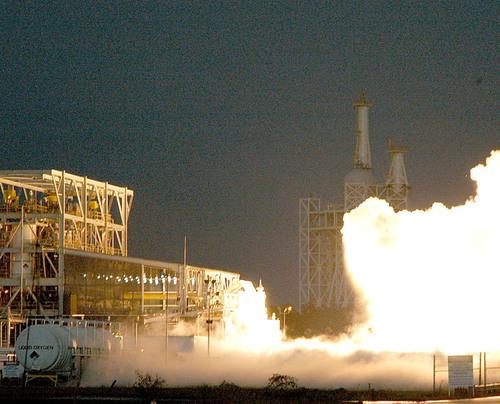 Aerojet's AJ26 Engine Performs in Test Firing at Stennis Space Center.  (PRNewsFoto/Aerojet, NASA)
