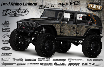 One month left in the Trail Reeper Jeep means there's still time for fans to win big prizes. (PRNewsFoto/Rhino Linings Corporation)