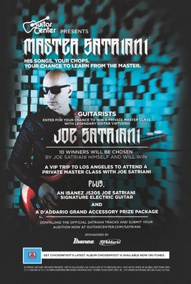 Guitar Center Presents Master Satriani.  (PRNewsFoto/Guitar Center)