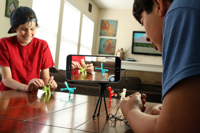Stikbot(TM) from Zing is an innovative tech toy that uses a stop motion app to create, animate and share original videos.