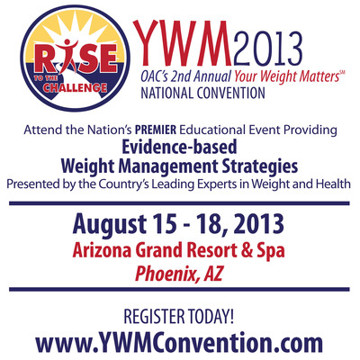 Take charge of your weight and health by joining the Obesity Action Coalition (OAC) for the 2nd Annual Your Weight Matters National Convention - August 15-18 - in Phoenix, AZ. Visit www.YWMConvention.com to learn more.
